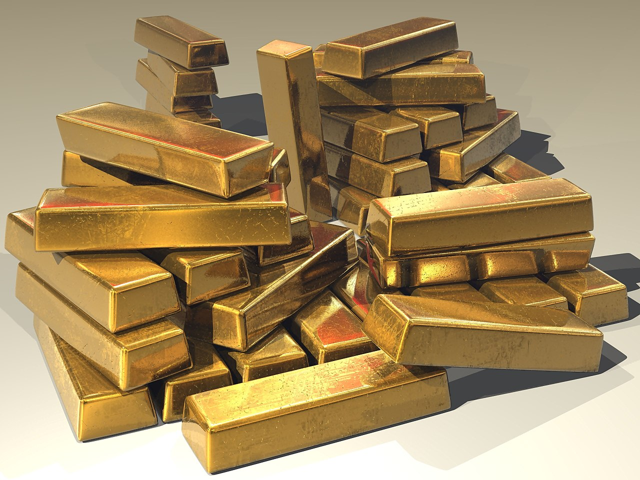 Gold bars from Wikimedia Commons