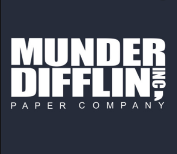 Logo from the fictional Munder Difflin Paper Company, Inc.
