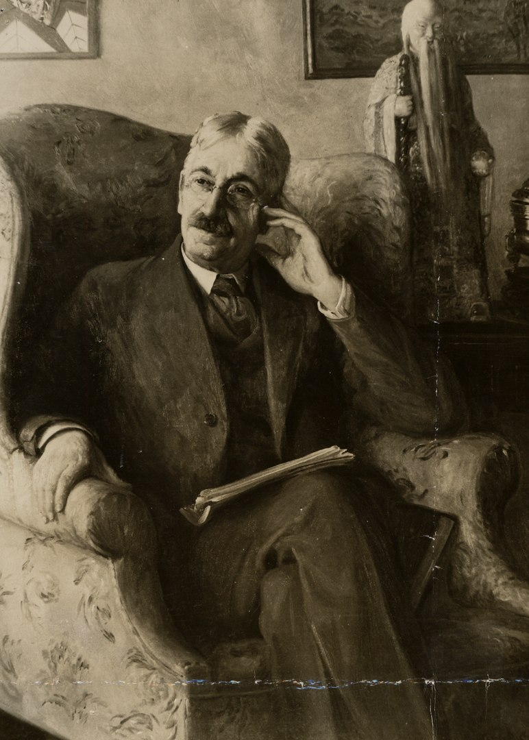 A portrait of John Dewey